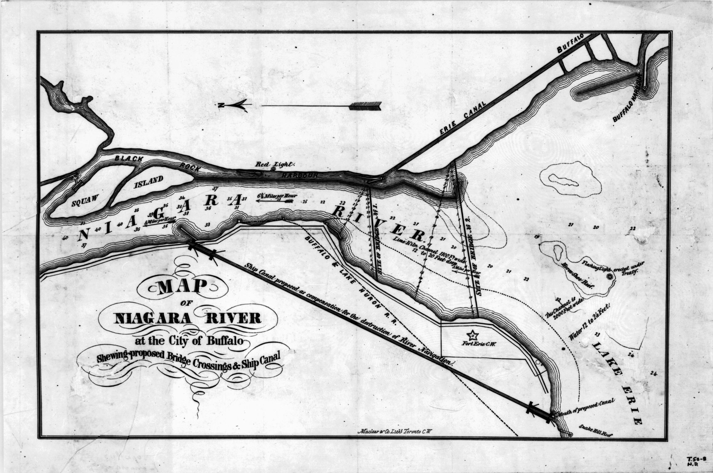 Map of Niagara River at the City of Buffalo Shewing ...