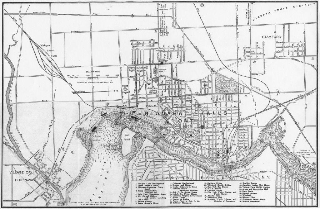 street map niagara falls ontario Map Of The City Of Niagara Falls Canada street map niagara falls ontario