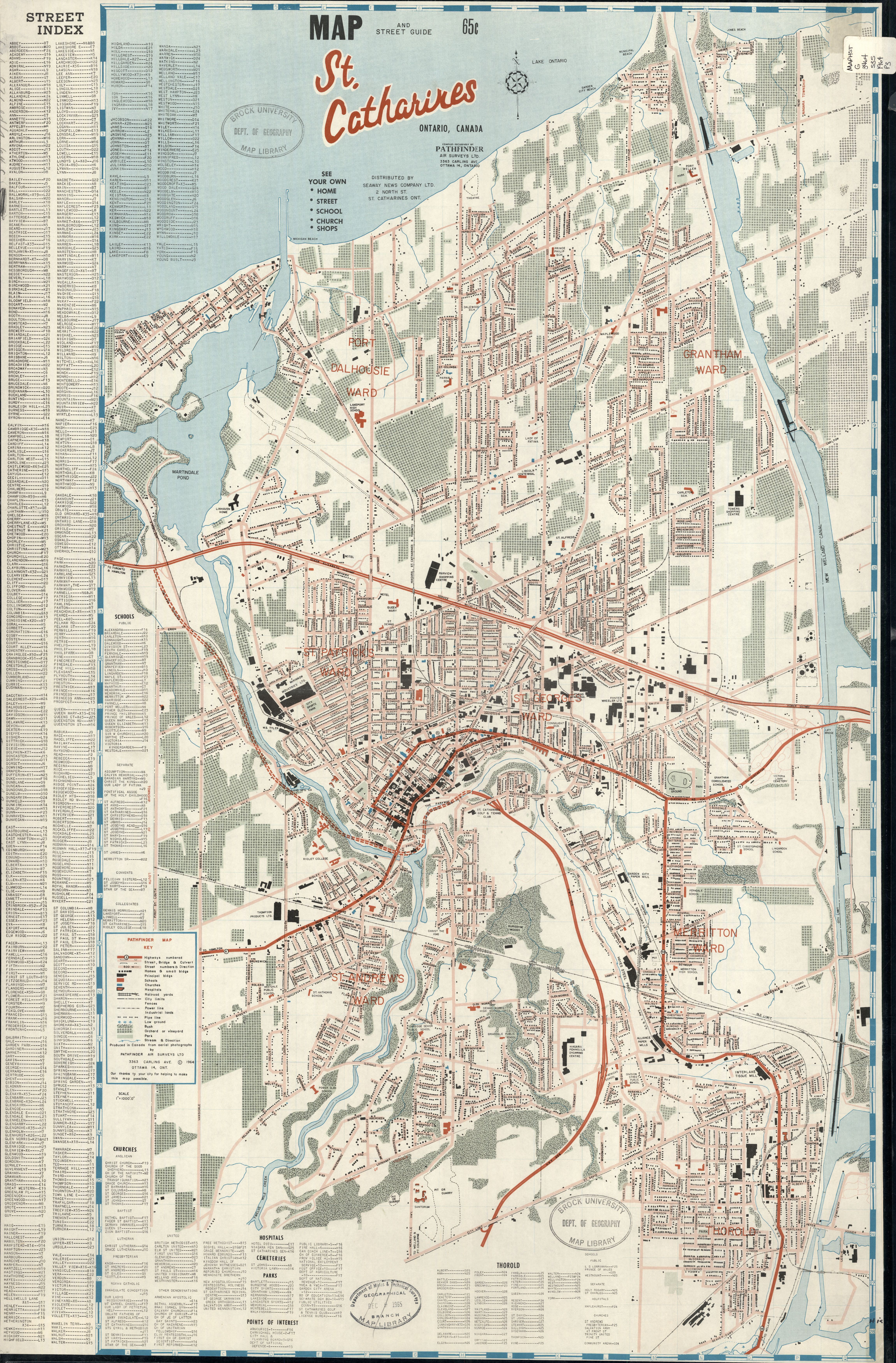Map Of St Catharines Map and street guide, St. Catharines, Ontario, Canada Map Of St Catharines